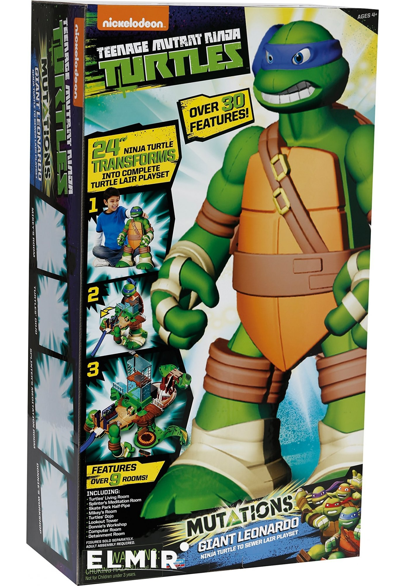 Игровой набор TMNT Черепашки-ниндзя Леонардо-трансформер ...